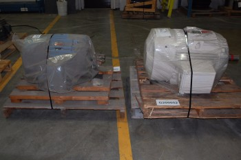 LOT OF 2 ASSORTED 575V-AC AC MOTOR, WESTINGHOUSE 7.5HP, GE 10HP