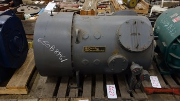 GENERAL ELECTRIC 100HP 500V-DC 1750RPM ELECTRIC DC MOTOR