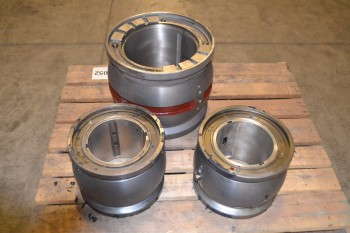 LOT OF 3 ASSORTED BEARING SLEEVE HOUSINGS