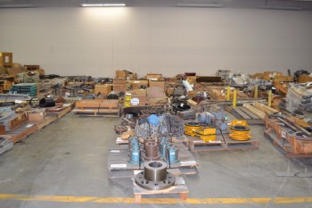 13 PALLETS OF ASSORTED POWER TRANSMISSION, GEARS, SPROCKETS
