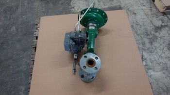 FISHER EZ 667 1-1/2IN FLANGED 150 STEEL CONTROL VALVE