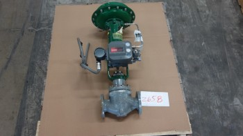 FISHER EZ 667 2IN 150 FLANGED STEEL CONTROL VALVE