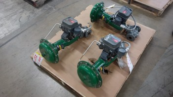 LOT OF 3 FISHER EZ 667 1IN 150 STEEL CONTROL VALVES