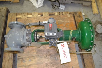 FISHER ET 667 4IN 150 FLANGED STEEL CONTROL VALVE