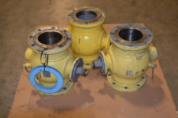 LOT OF 3 COOPER CAMERON VALL VALVES, 6 INX 6 IN