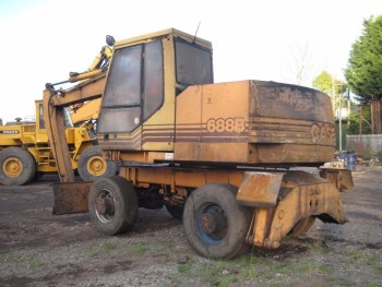 Case 688B Excavator on Wheels