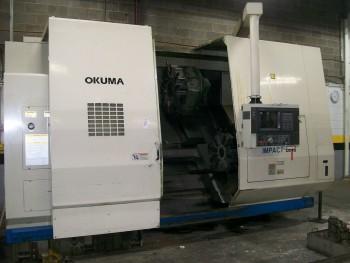 Okuma LU45-1, 4-Axis Dual Turret CNC