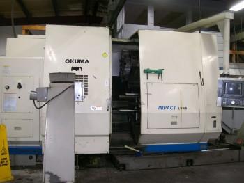 Okuma LU45-2 4-Axis Dual Turret CNC
