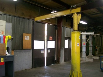 Floor Mounted Jib Crane, 1/2 Ton Capacity with no Hoist
