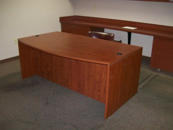 Office With Two (2) Executive Desks and One (1) End Table