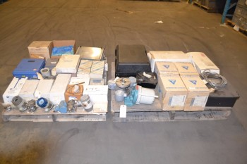 2 PALLETS OF ASSORTED INSTUMENTATION, TRANSMITTERS, ROSEMOUNT