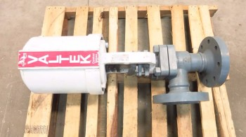 VALTEK 3 IN STAINLESS PNEUMATIC FLANGED CONTROL VALVE