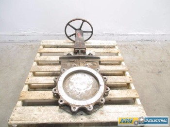 CRANE 12 IN STAINLESS FLANGED KNIFE GATE VALVE
