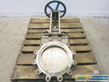 NAQIP 14 IN STAINLESS FLANGED KNIFE GATE VALVE