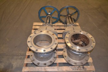 LOT OF 2 FLOW CONTROL COMPONENTS 10 IN WEDGE GATE VALVES