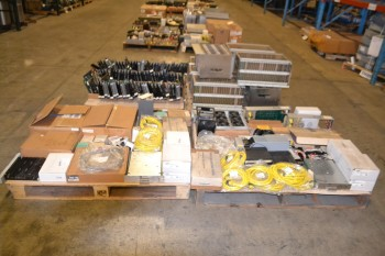 4 PALLETS OF ELECTRICAL CONTROLS CABLE-WIRE, SWITCHES, PCB