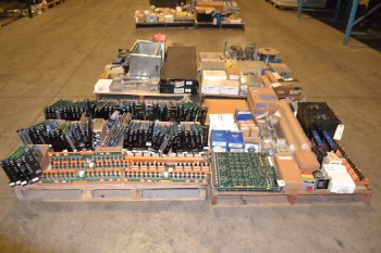 4 PALLETS OF ELECTRICAL CONTROLS PCB, CABLE-WIRE, MODULES