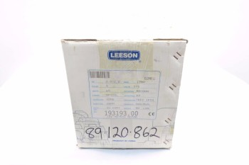 LEESON C100T17FZ3C 193193.00 3 HP ELECTRIC MOTOR