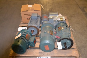 1 PALLET OF ASSORTED AC MOTORS, 3/4 HP-5 HP