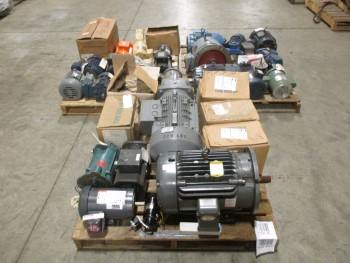 3 PALLETS OF ASSORTED AC ELECTRIC MOTORS