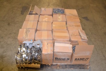 1 PALLET OF ASSORTED SIZES BAND-IT CLAMPS