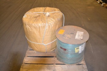 LOT OF 2 ASSORTED SPOOLS OF ROPE