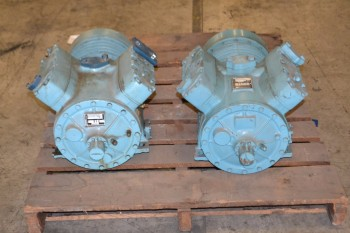 LOT OF 2 DUNHAM BUSH 204UPHFRMFAR60 162-400PSI COMPRESSOR 460V