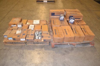 2 PALLETS OF ASSORTED CONDUIT FITTINGS COVERS, CONNECTORS
