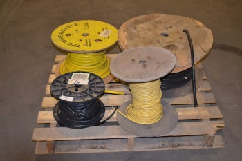 LOT OF 4 ASSORTED SPOOLS OF WIRE