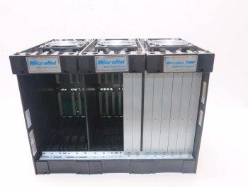 WOODWARD 5453-278 MICRONET 12-SLOT CHASSIS REV A RACK