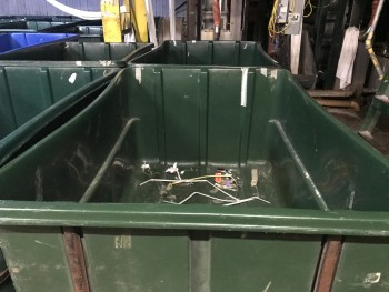 Green Tub Carts  Lot of 3