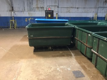 Green Tub Carts  Lot of 4