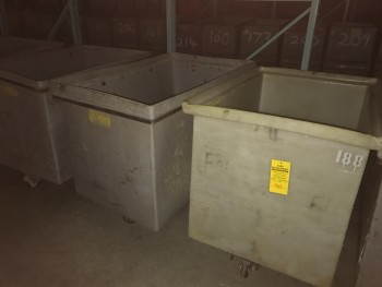 Lot of 3 Grey Tub Carts