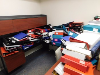 Desk and Binders