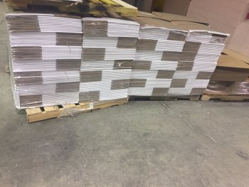 10 Pallets of Shop Down Cardboard Boxes