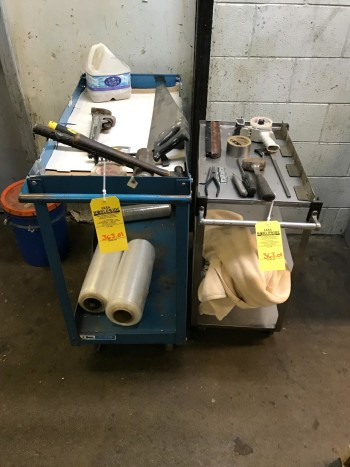 2 Steel carts and contents
