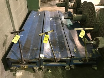 Lot of 3 Loom Beam Carts
