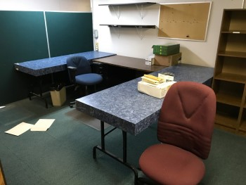 Lot of items located in the common area of the upstairs office space