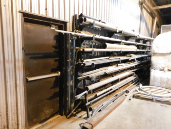Steel and rack with Misc Steel Pipes and Dowels