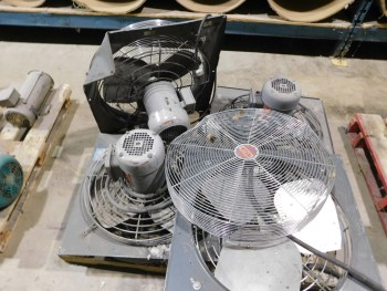 Pallet Of 4 Electric ceiling Mounted Fans