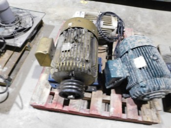 Pallet of 5 Electric Motors