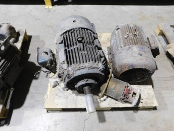Pallet of 3 Electric Motors