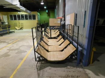 U Shaped Green Carts Lot of 3
