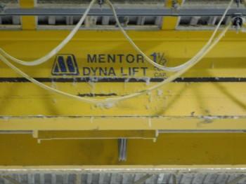 Mentor-Dynalift 1.5 ton double girder overhead craane