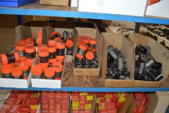 Lot used deep hole drills 1 shelf