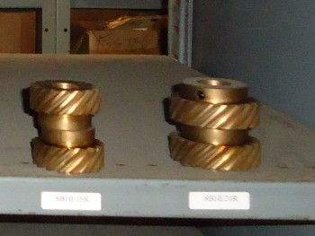 LOT OF 8 Pitch BRONZE Helical, Union Gear