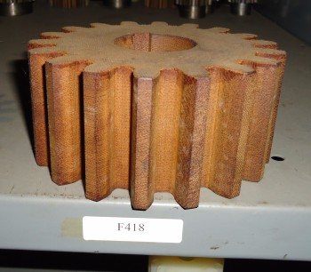 LOT OF 4 Pitch PHENOLIC, FIBER, SPUR GEAR, F418, 14-1/2 PA, Union Gear