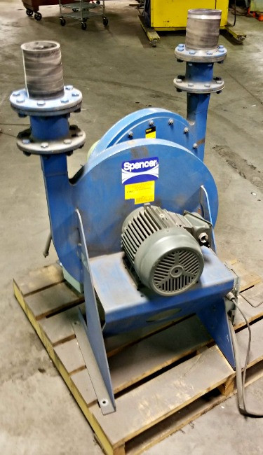 Spencer Blowers 1001-1/2 SS Centrifugal Air Blower 3 HP 3 PH 3500 RPM