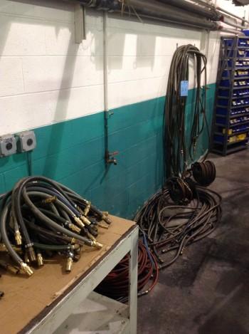 Lot of Air hose w/ (2) Reels