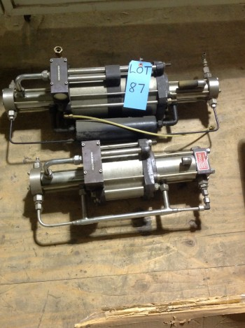 Lot of (2) Maximator Gas boosters